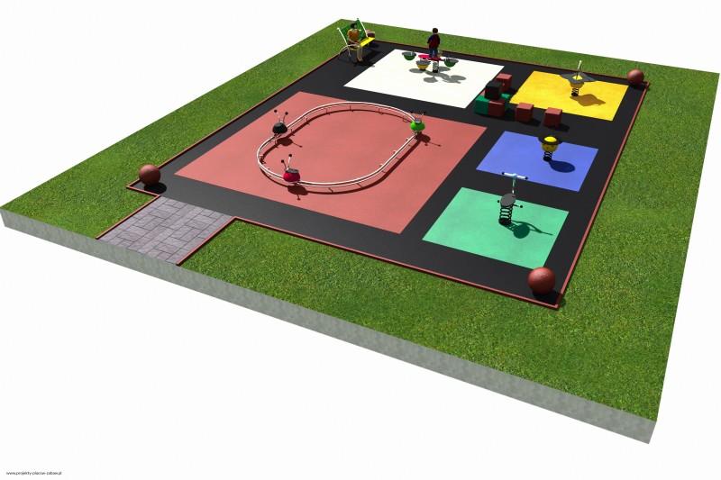 Projekt placu zabaw projekt COLOR KIDS 4 3