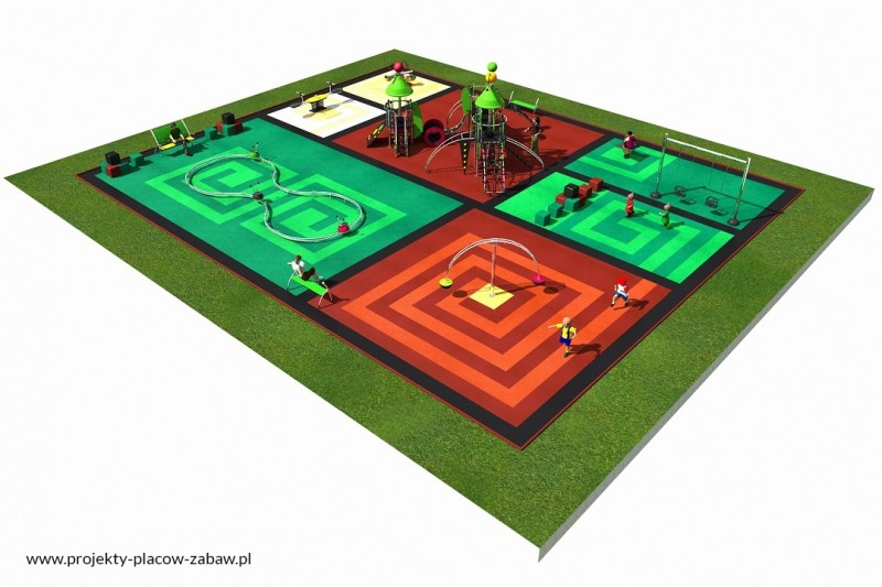 Projekt placu zabaw projekt COLOR KIDS 5 3