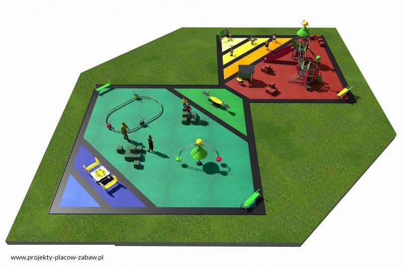 Projekt placu zabaw projekt COLOR KIDS 8 3