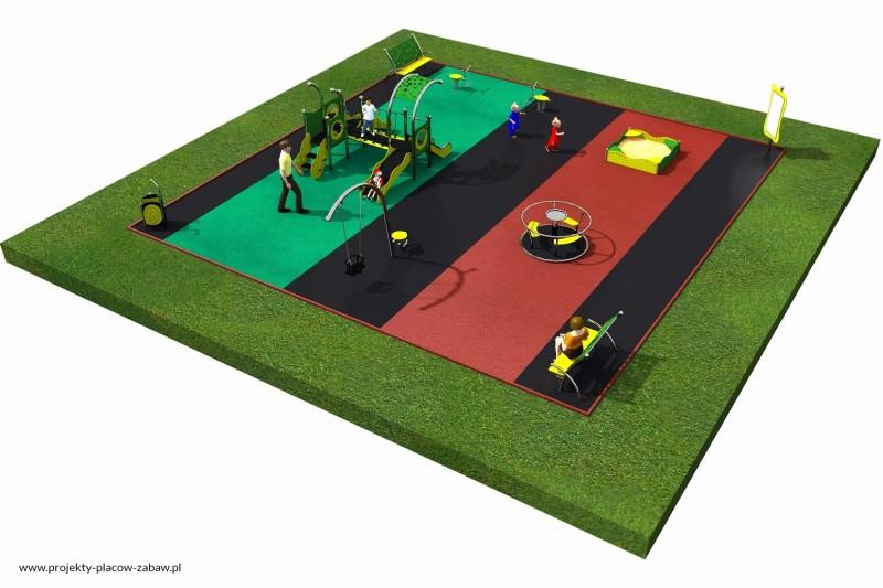 Projekt placu zabaw projekt LIMAKO MALUCH 2 3