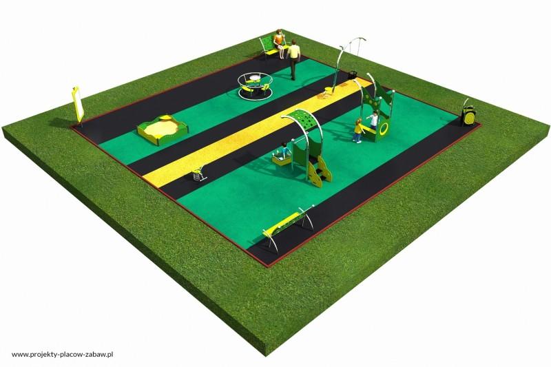 Projekt placu zabaw projekt LIMAKO MALUCH 4 3