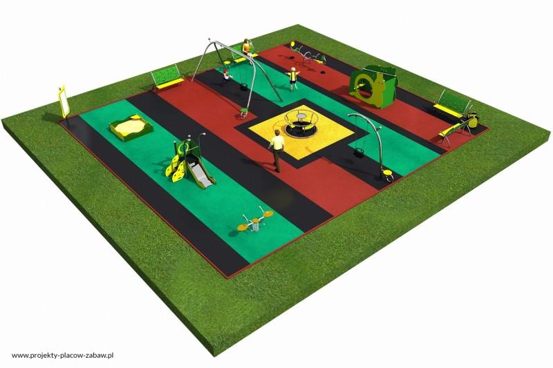 Projekt placu zabaw projekt LIMAKO MALUCH 5 3