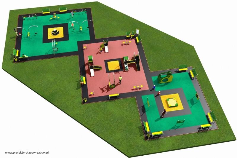 Projekt placu zabaw projekt LIMAKO MALUCH 8 3