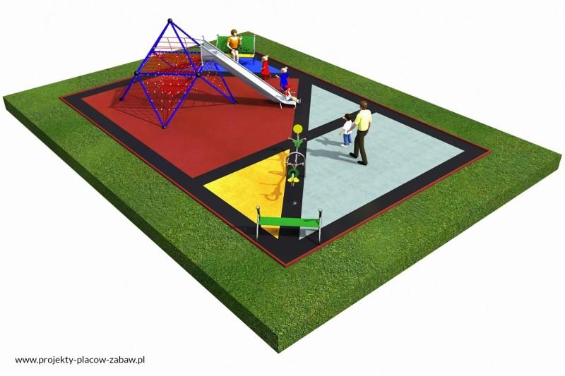 Projekt placu zabaw projekt LINARIUM 1 3