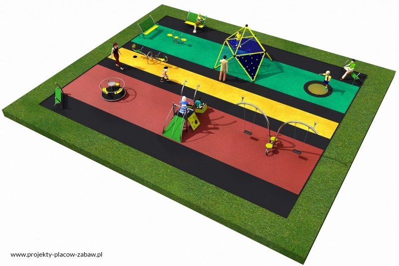 Projekt placu zabaw projekt LINARIUM 2 3