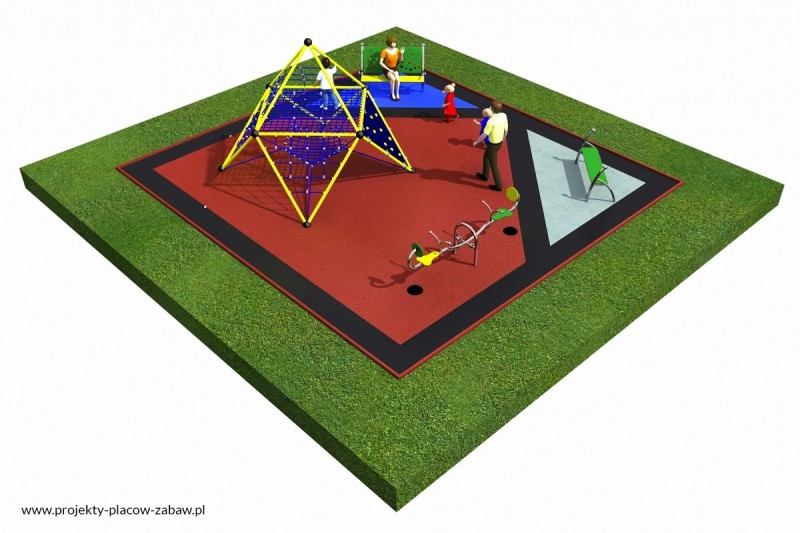 Projekt placu zabaw projekt LINARIUM 2a 3