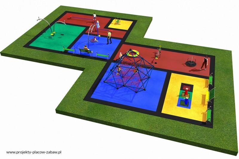 Projekt placu zabaw projekt LINARIUM 4 3
