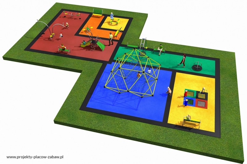 Projekt placu zabaw projekt LINARIUM 5a 3