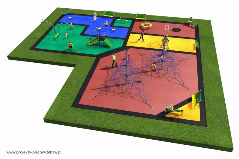 Projekt placu zabaw projekt LINARIUM 6a 3