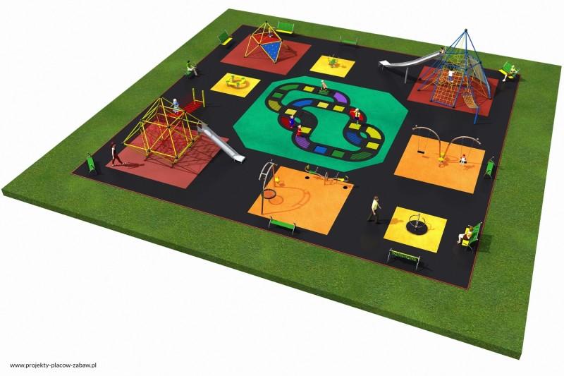 Projekt placu zabaw projekt MULTI 7 3